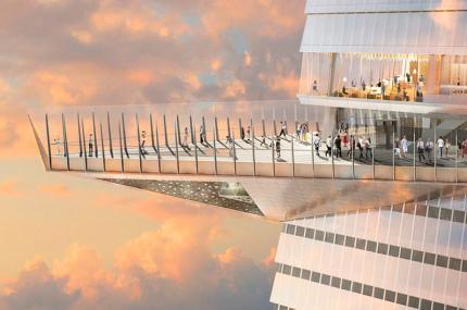 В Нью-Йорке откроется самая высокая открытая смотровая площадка на западе